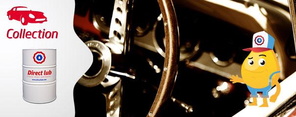 Menu huile voiture de collection